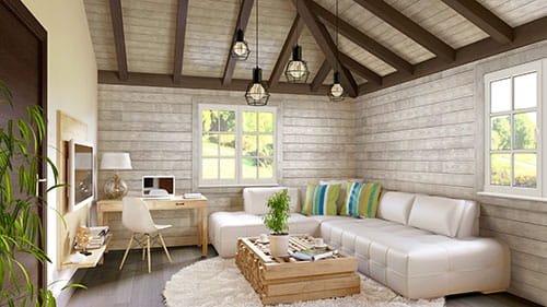 UFP-Edge rustic shiplap ceiling with rustic shiplap walls