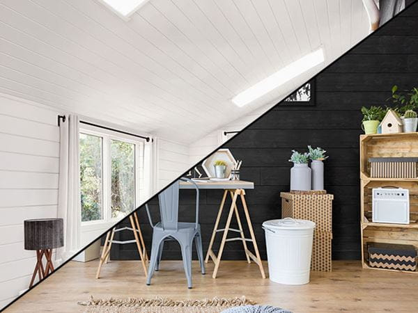 ufp-edge accent walls of shiplap wall cladding vs. full rooms of shiplap wall cladding
