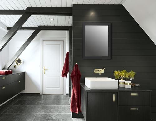 Timeless Midnight Black shiplap in bathroom