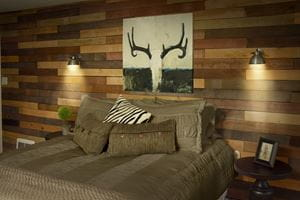 Weathered Wood Accent Wall Shiplap