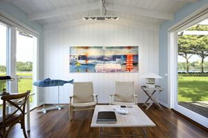 Timeless Nickel Gap Shiplap in Farmhouse White in Living Room