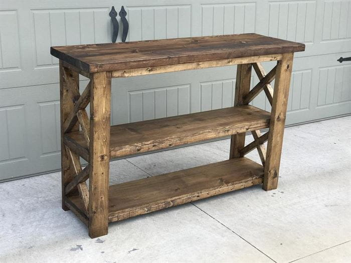 Rustic console table_handmadehaven