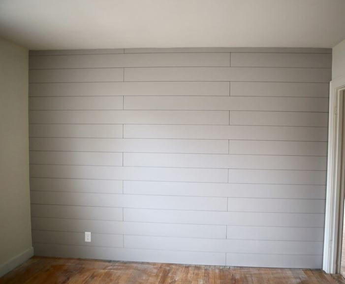 How to Paint Primed Shiplap
