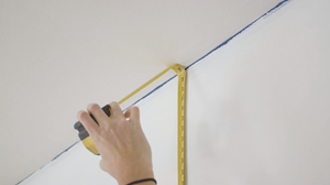Measuring your wall vertically