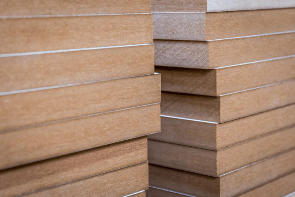 stacked MDF boards