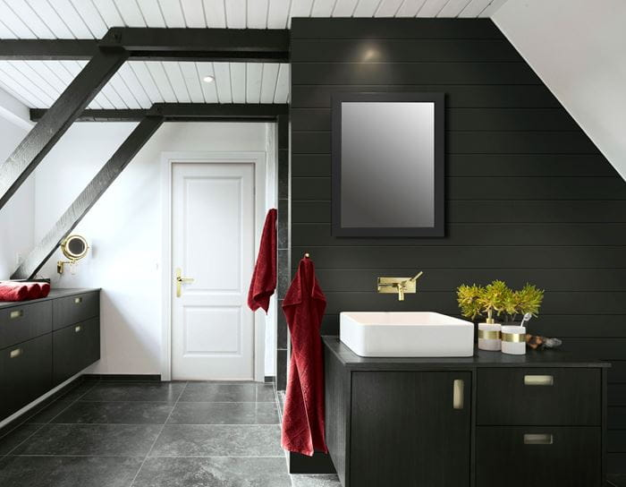 Nickel Gap_Midnight Black 1x8 Bathroom