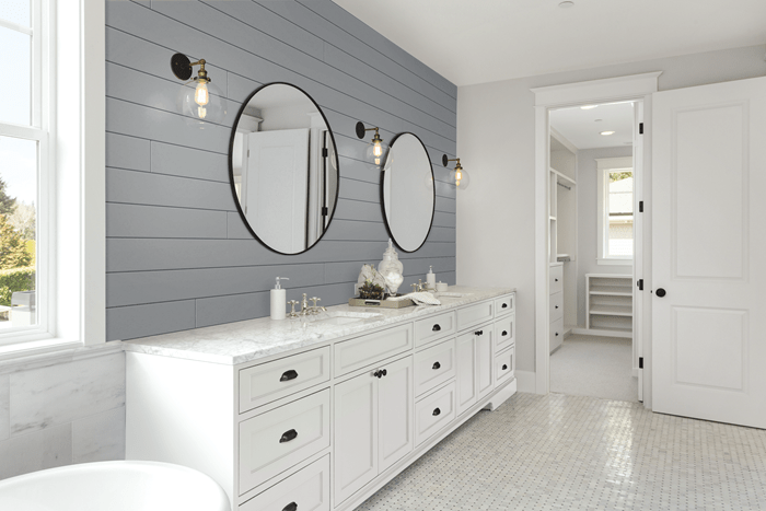 Timeless Granite Gray Shiplap in Bathroom