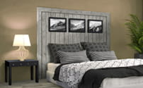 UFP-Edge Rustic Collection gray headboard
