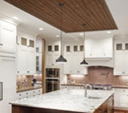 UFP-Edge Rustic Collection brown accent ceiling in kitchen